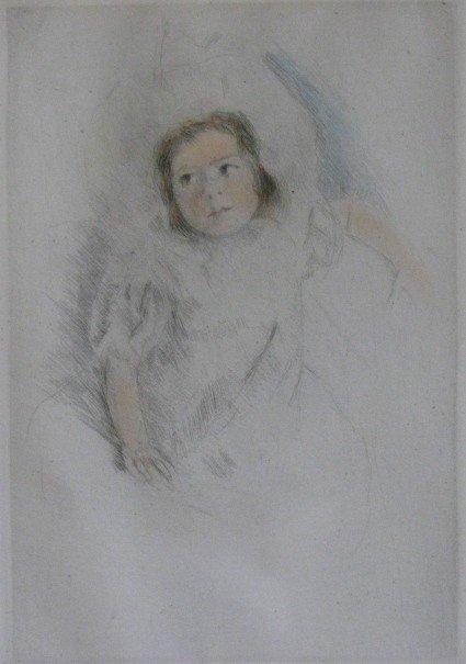 84: Mary Cassatt etching