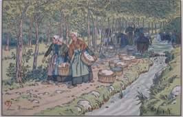 558 Henri Riviere lithograph in colors