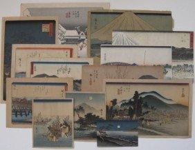 9: after Hiroshige and Hokusai 13 woodblocks