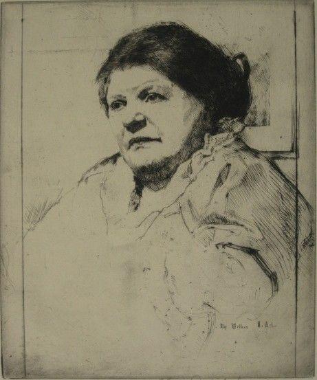50: William Auerbach-Levy etching