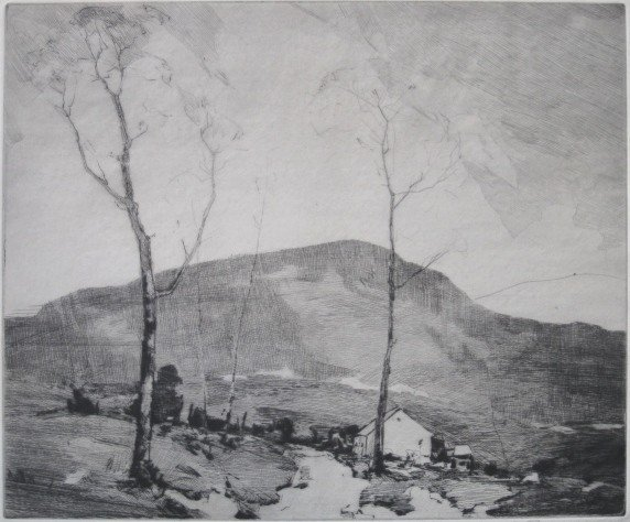 261: Chauncey Ryder etching and dry point