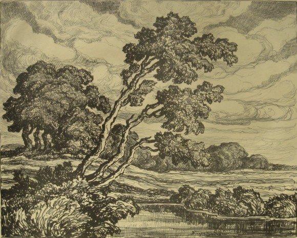 267: Birger Sandzen lithograph