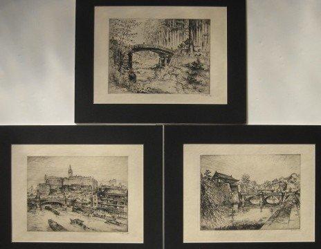271: Anton Schutz 3 etchings