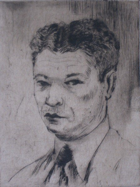 279: Clyde Singer etching