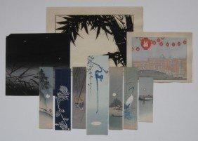 1: 19th / 20th c. Japanese School 10 woodcuts