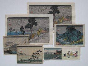 After Hiroshige Ando 5 Woodblocks
