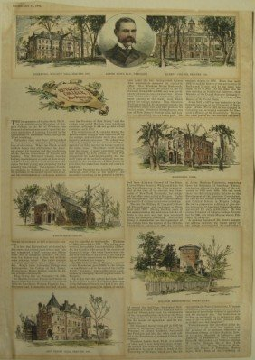 12: Lot of 5 hand-colored wood engravings