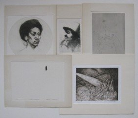 Sigmund Abeles Etching And 4 AAA Publications