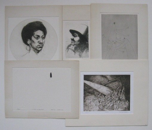 18: Sigmund Abeles etching and 4 AAA publications