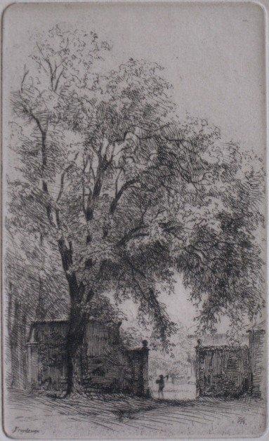 21: Maurice Achener etching