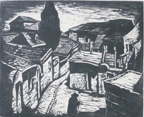 496E: Jakob Steinhardt woodcut