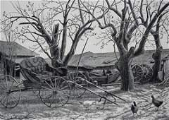 28: Grace Albee wood engraving