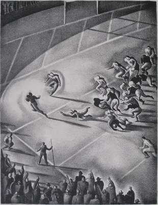 253: Benton Spruance lithograph
