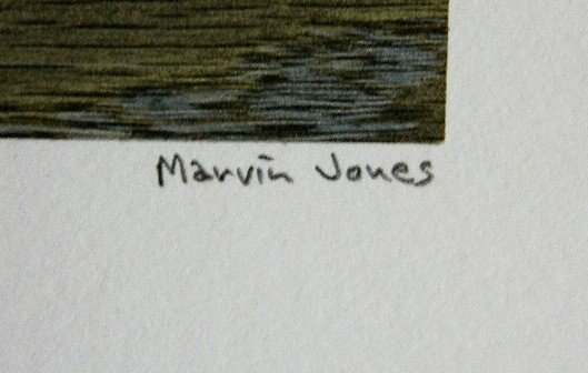 333: Marvin Jones woodcut and collage - 3