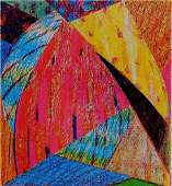 532: Samia Halaby color xerox print