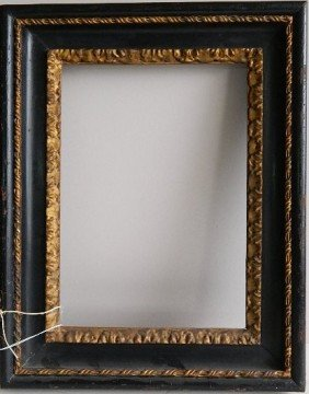 706: Black lacquer and gilded hand-carved frame