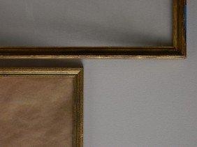 707: 2 Gilded gallery frames