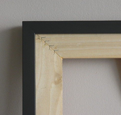 708: 2 Black wood gallery frames
