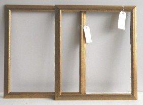 711: 2 Gilded gallery frames