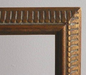 712: 4 Dark wood gallery frames