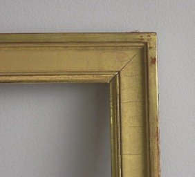 713: 2 Matching gilded gallery frames