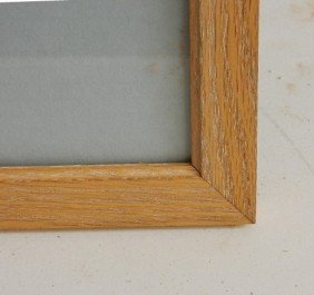 715: 3 Contemporary wood gallery frames
