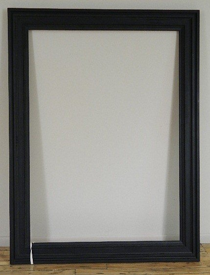717: Dutch style black painted mould made frame