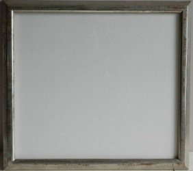 723: Painted silver wood gallery frame