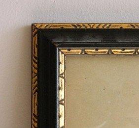 724: 2 Black wood gallery frames