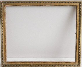 Gilded Mould Made Frame With Bead Motif