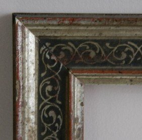 835: Silver leaf and black painted frame