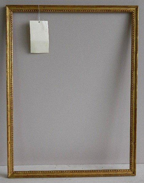 846: Gilded mould made frame, bead motif