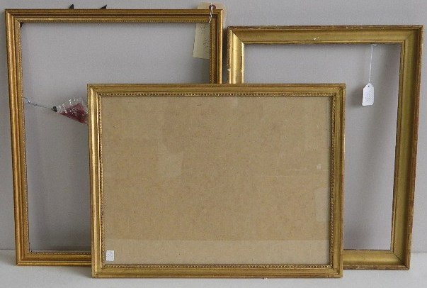 847: 3 Gilded gallery frames