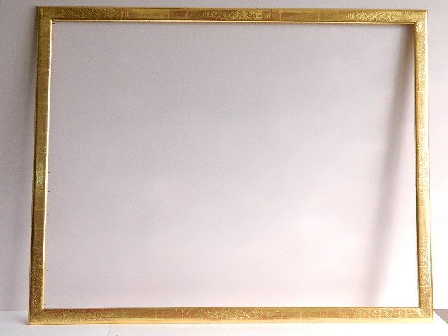 851: Large hand carved and gilded frame