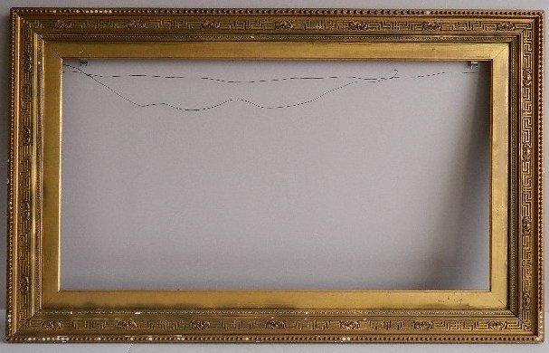 852: 19th c. gilded moulded frame