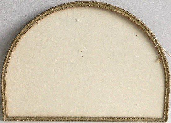 853: Demi-lune hand carved gilded frame