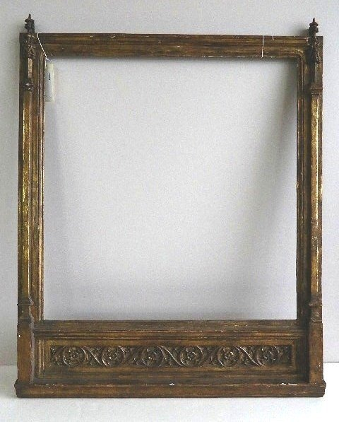 854: Architectural style hand-carved frame