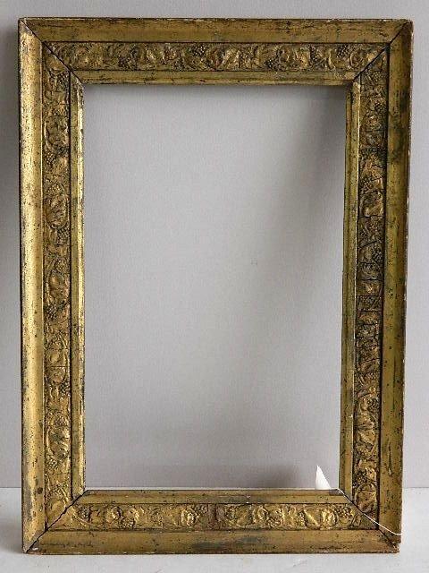 856: Gilded mould made frame, grape vine motif