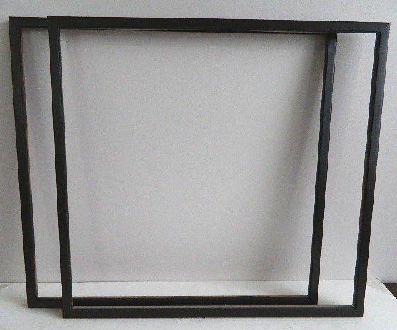 859: Pair of dark wood gallery frames