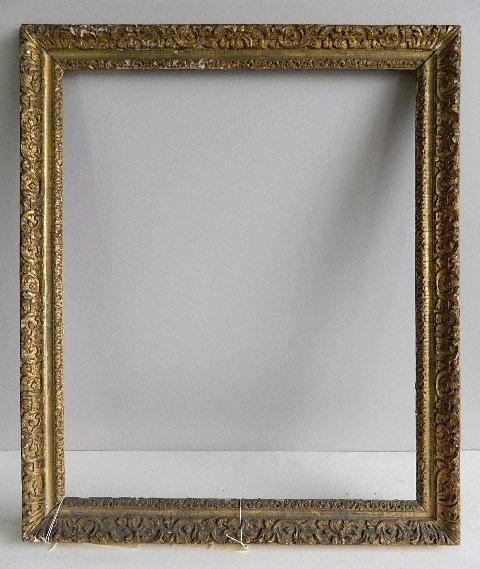 862: Hand carved gilded frame