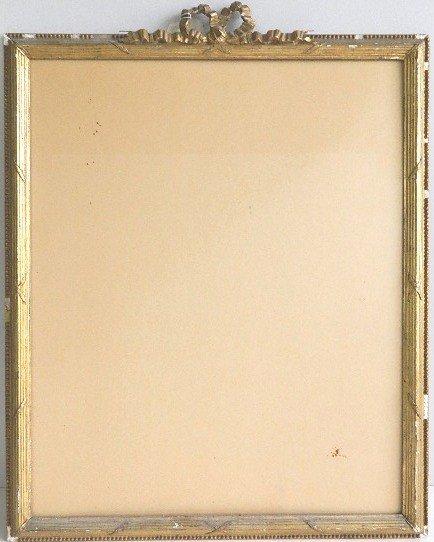 863: Gilded mould made frame, bundled reed motif