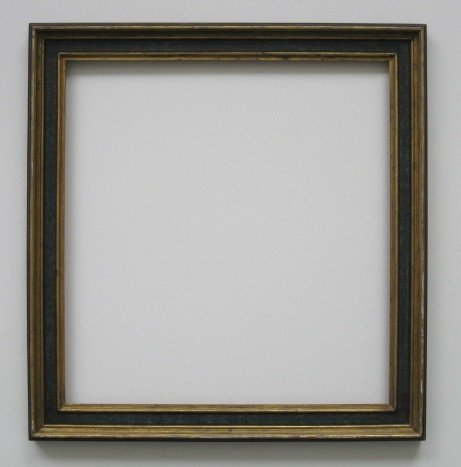 868: Gilded and polychromed hand-painted frame