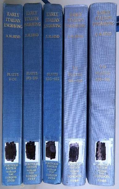 72: Hind- Italian Engravings- 5 vols.