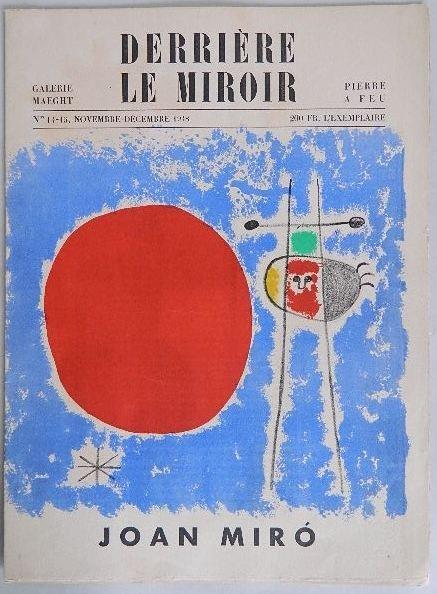 101: J. Miro- Derriere Le Miroir edition