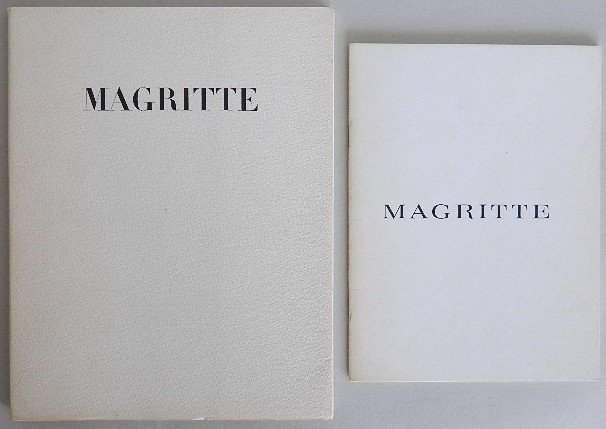 195: 2 Rene Magritte exhibition catalogs