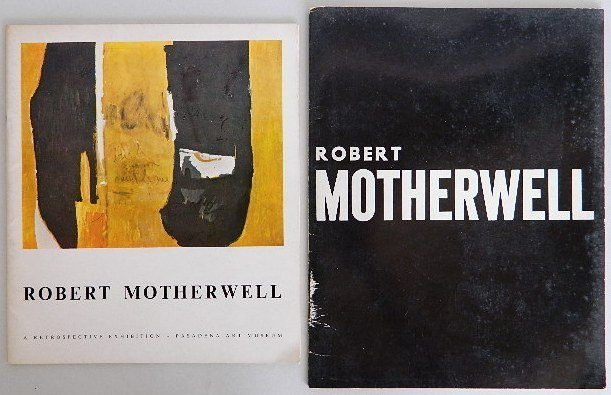 205: 2 Robert Motherwell exhibition catalogs