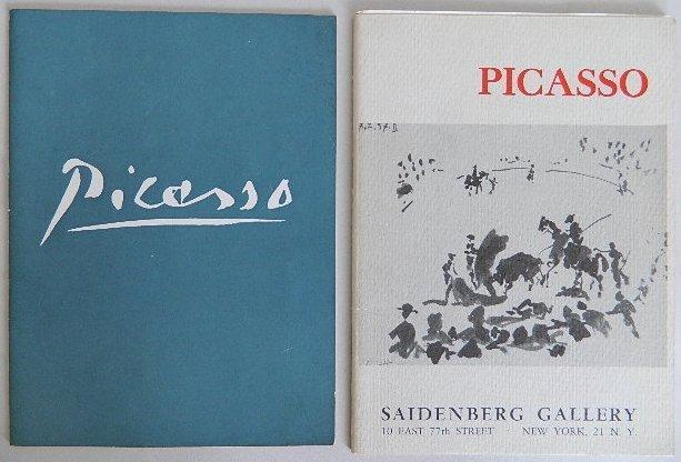 210: 2 Pablo Picasso exhibition catalogs