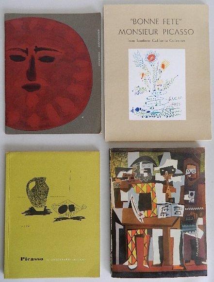 211: 4 Pablo Picasso exhibition catalos