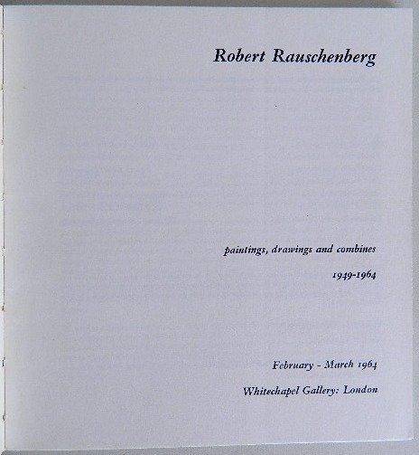 216: 2 Robert Rauschenburg exhibition catalogs - 3