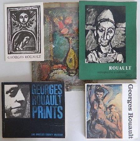 221: 8 Georges Rouault exhibition catalogs